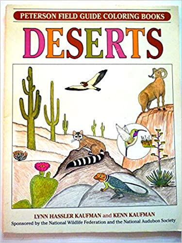 Field Guide Coloring Book DESERTS Peterson Books Kenn Kaufman Lynn Hassler Roger Tory 0046442670869 Amazon