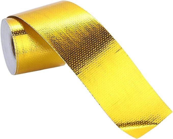 Kkmoon Neue Marke Reflect Light Feuerhemmende Fiberglas Gürtel Automobil Motorrad Refit Wärmedämmung Band Abwärme Wrap Roll Durable Verschleißfeste Hitzeschild Band Auto