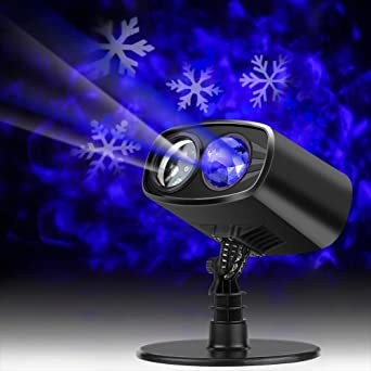 Yosoo 9W Paisaje en Movimiento Luz del Proyector LED para Cumpleaños Año Nuevo Navidad Fiesta Pistas