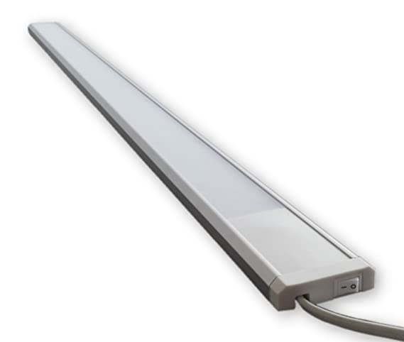 230V LED Licht Leiste 15W ( 90 cm ) inkl. An/Aus Schalter S47 - inkl.  Netzstecker