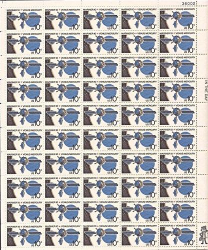 us-stamp-1974-mariner-10-venus-mercury-50-stamp-sheet-1557