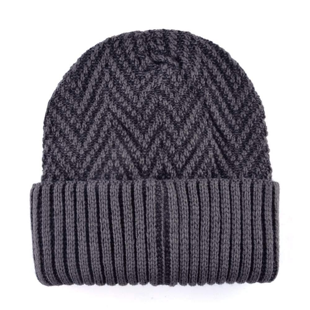 Winter Hat Skullies Beanies Men Women Knitted Hat Scarf Ripple Style Thick Mask Balaclava Bonnet Cap Beanies Hats TMC109@RED Scarf