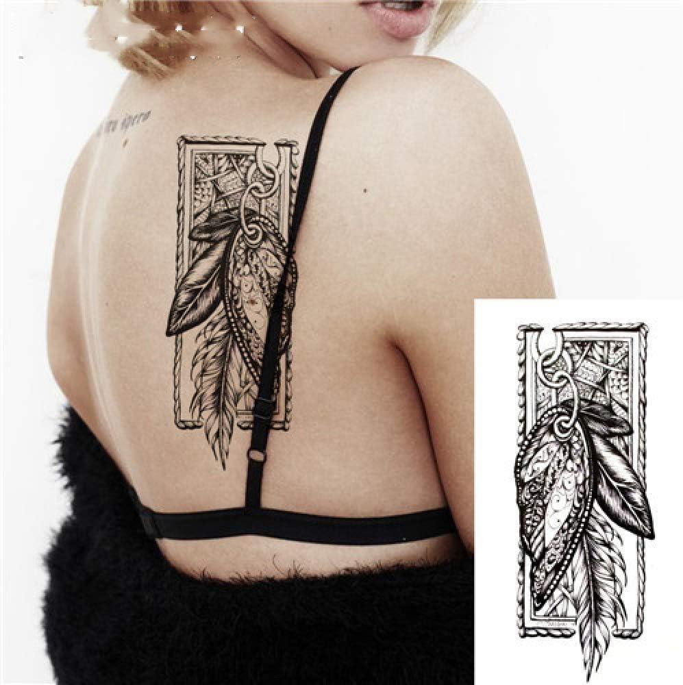 adgkitb 3 Piezas Flechas de brújula Flor Blanca Negra Tatuaje ...