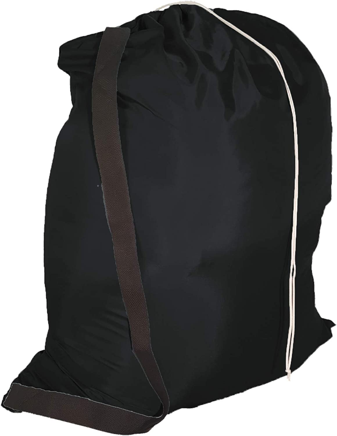 Owen Sewn Heavy Duty 40inx50in Nylon Laundry Bag with Strap - Black