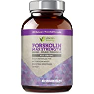 100% Pure Forskolin - Non GMO, Gluten Free & Made in USA - Coleus Forskohlii Extract 60ct
