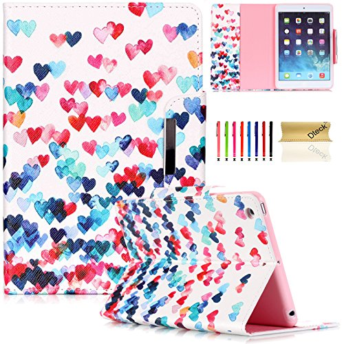iPad Mini Case,iPad Mini 2/3 Wallet Case, Dteck(TM) Colorful Painting Magnet Design Cover with [Auto Wake/Sleep] Flip Stand Case for Apple iPad Mini/Mini Retina Display/Mini 3 (02 Love Heart) (Heart 123)