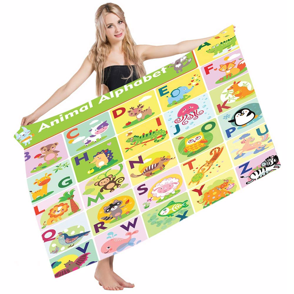Amazon.com: Mugod Beach Towel Bath Towels ABC Kids Colorful ...