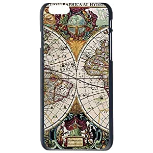 Fashion Unique Map Design Map Of The Globe Plastic Hard Case Cover Back Skin Protector For Apple iPhone 6G by Alexism Size93