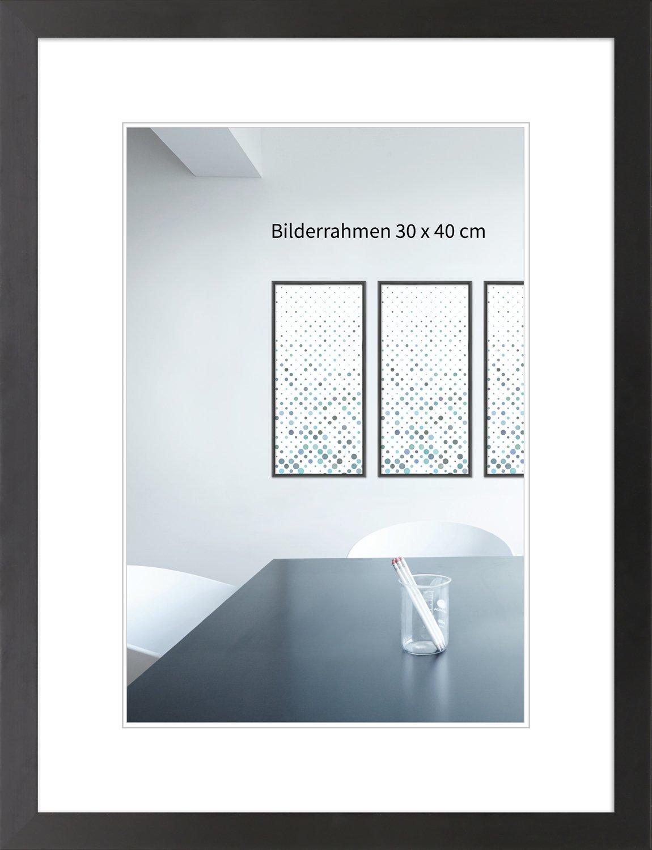 WandStyle H430 - フォトフレーム - モダンスタイル - 純木とガラス - ブラック - 30 x 45 cm   B01L9N0ZWE