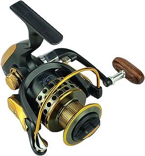 Lixada 13 + 1 Roulements à Billes Spinning Reel Fishing Système de Freinage Double Frein Bobine en Métal Lisse Poignée à Bascule Interchangeable Gauche