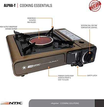 Amazon.com: ntk alpha-t Deluxe Heavy Duty de gas portátil ...