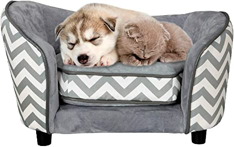 Dog Cat Couch Sofa Chaise Lounge Luxury Pet Sleeping Sofa Bed Puppy Seat
