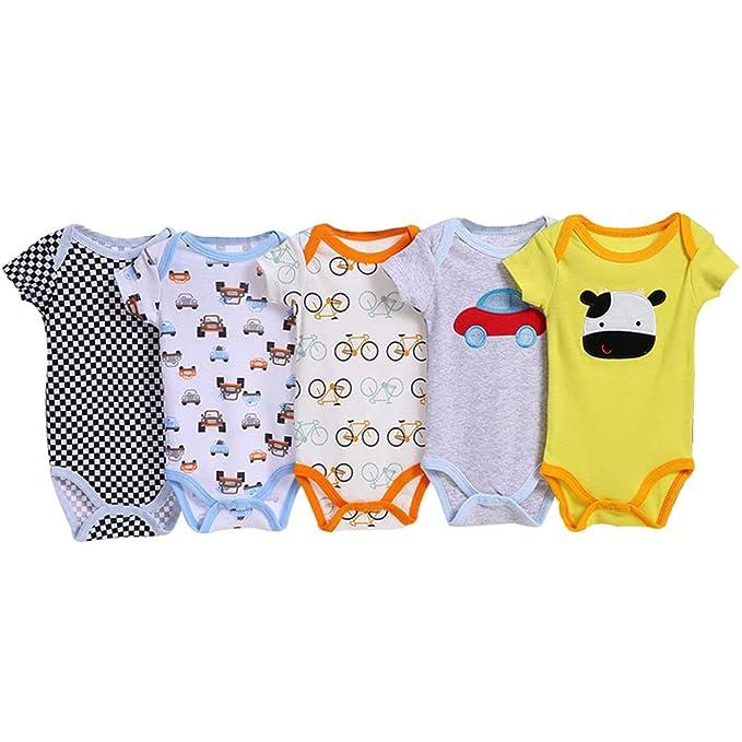 Größen Baby Body  3-er Pack Kurzarm  100/% Baumwolle Set  versch