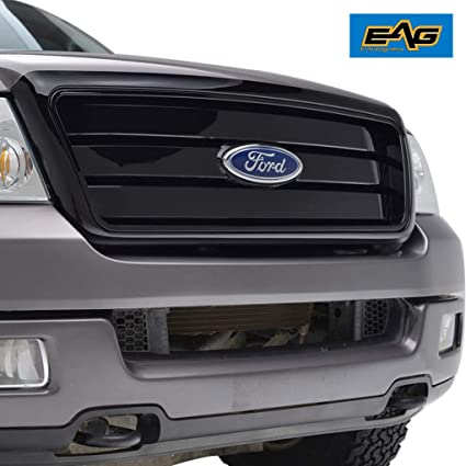 Eag F 150 Replacement Black Grille Mesh Upper Front Grill For 04 08 Ford F150 With Emblem Clip