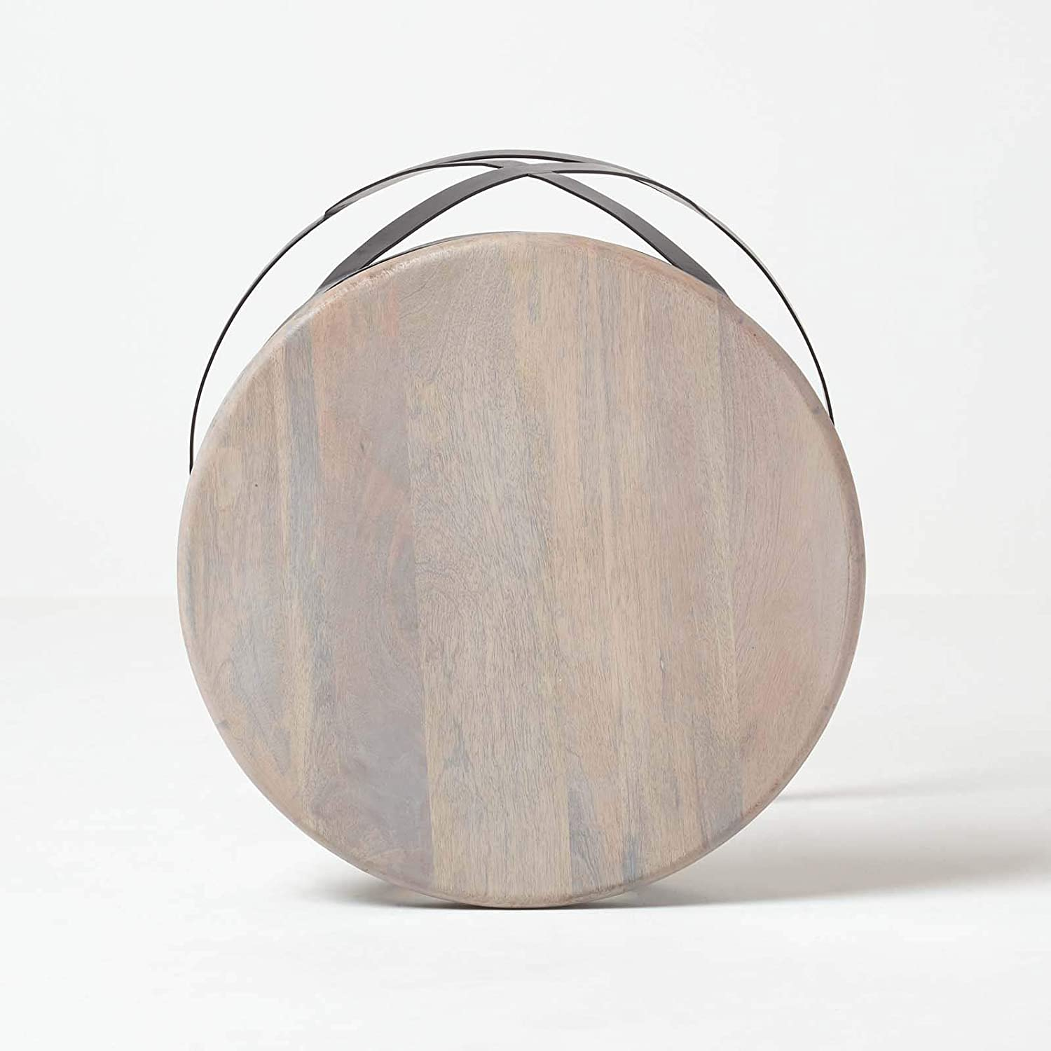 Homescapes Natural Brown Soho Barrel Side Tables 2 Nesting Tables Handcrafted From 100/% Acacia Wood /& Solid Steel Modern Style Space Saving /& Compact Side Tables or Coffee Tables 45cm H x 53cm W