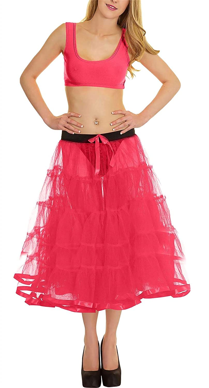 Islander Fashions para Mujer 5 Niveles Enagua con Falda de Cinta ...