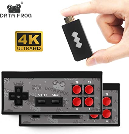 Fmingdou Y2 4K HD-MI Video Game Console Built in 568 Classic Games Mini Retro Console Wireless Controller HD-MI Output Dual Players