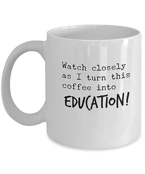 Amazon.com: Agradecimiento para profesor taza – café en ...