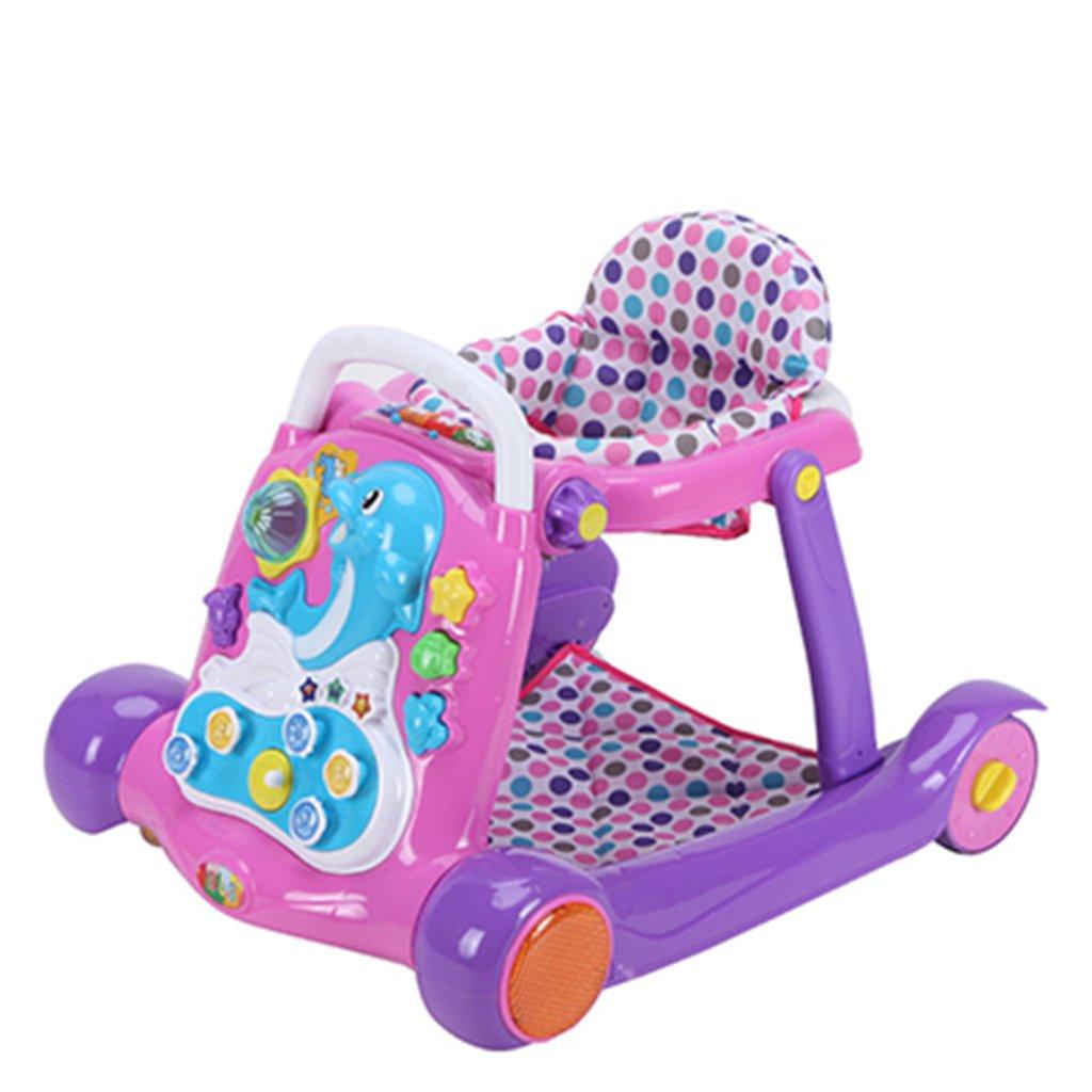 HAIZHEN マウンテンバイク プラスチック+布ベビーウォーカー7-18ヶ月は、折り畳み式の多機能のアンチロールオーバー音楽で折り畳むことができます折りたたみ式フリーインストール玩具の赤ちゃんキャリッジ70 * 51 * 61センチメートル 新生児 B07DMPKQYL3