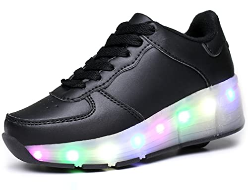 377347f5d91 Amazon.com  Kids Boy and Girl s LED Light Up Roller Shoes Wheel ...