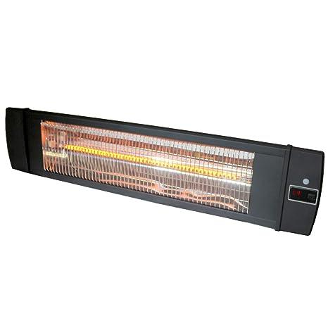 Versonel - Soporte de pared para calefactor de interior y exterior (carbono, con mando