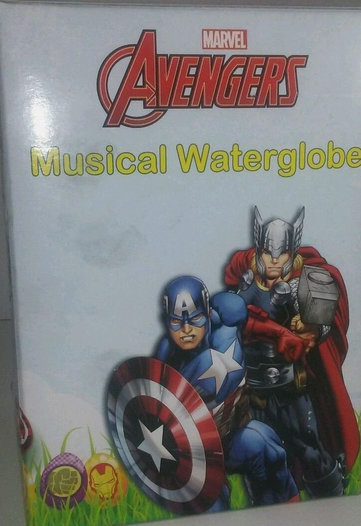 MARVEL AVENGERS Musical waterglobe Captain America