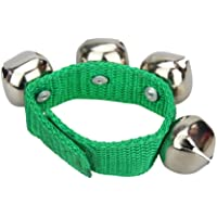 2pcs Metal Jingle Bells Wrist Percussion Musical Toy for Kids Party Games (Green)