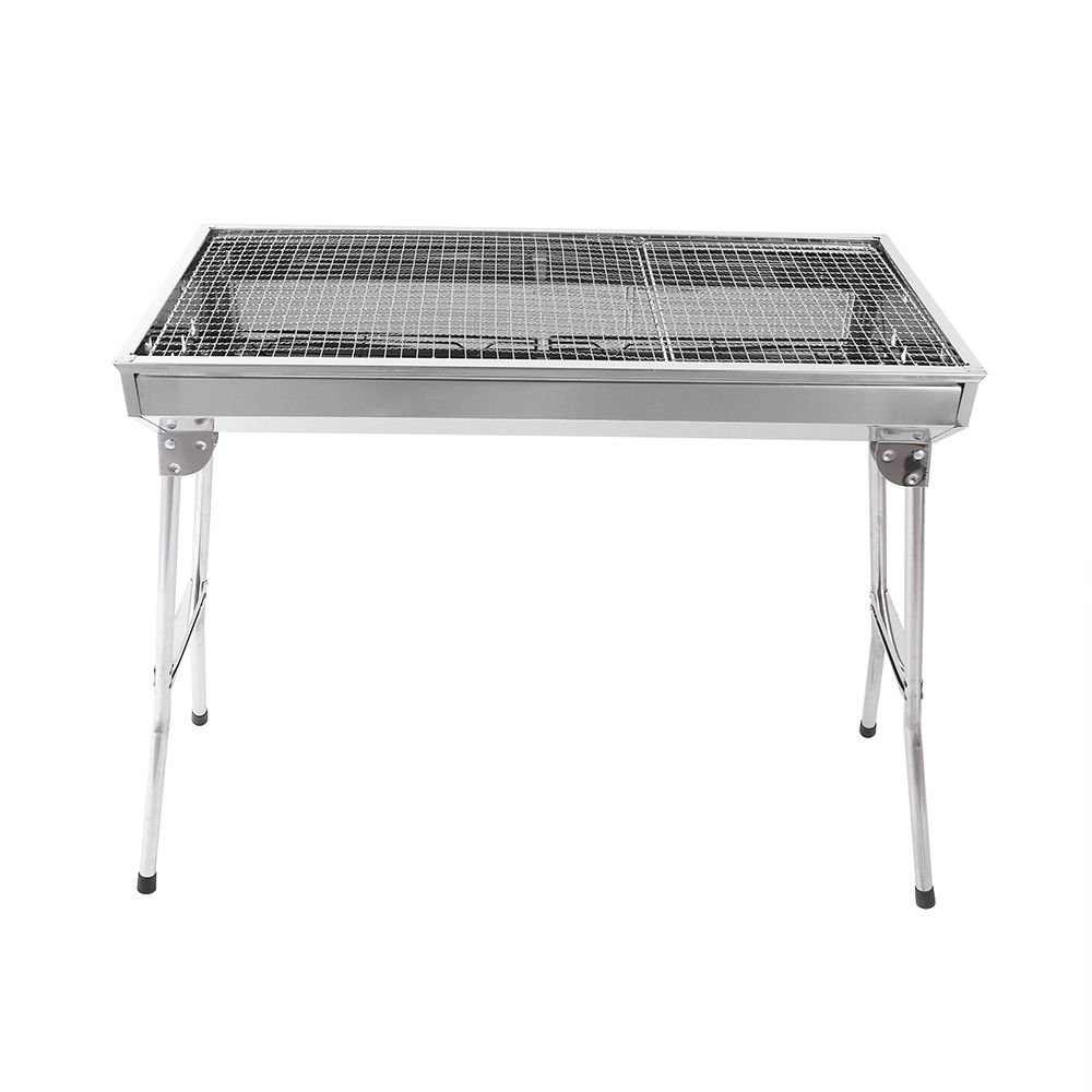 baree shop Fold Barbecue Charcoal Grill Stove Shish Kabob Stainless Steel BBQ Patio Camping