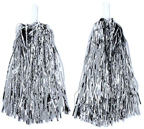 UNI -- Cheerleader pom-poms Silver