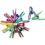 NUOLUX 50pcs agrafes en métal coloré titulaires pince à linge (couleur aléatoire)