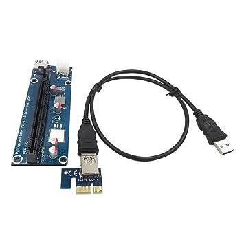 Grborn USB 3.0 PCI-E Cable de extensión PCI Express 1X a 16X ...