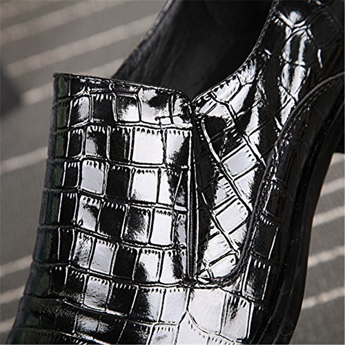 Formale Affari Da In Sposa Metal Black Oe Festa Eleganti Men's Scarpe Mocassini Pelle YwxH16nq