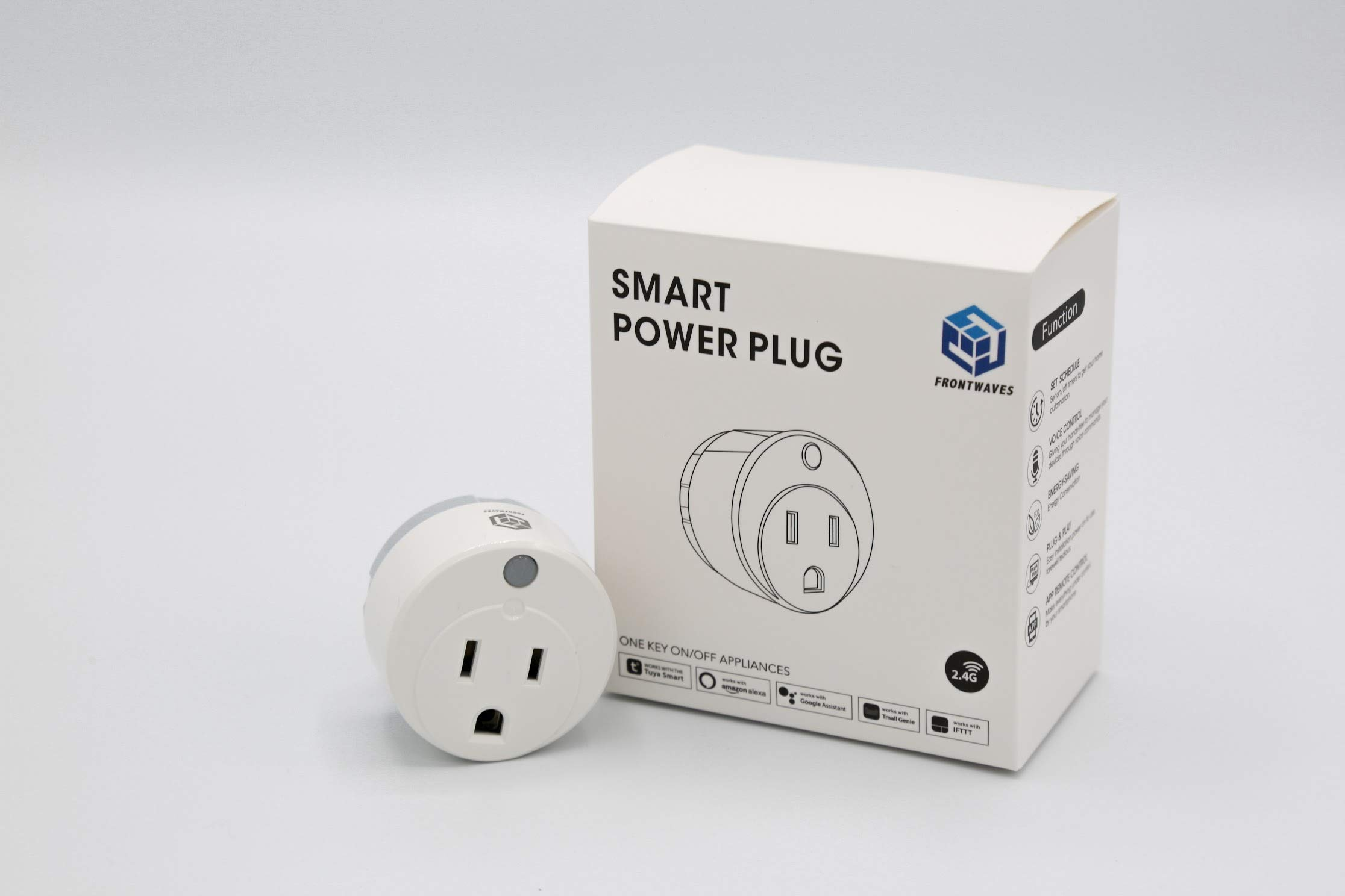 WiFi Smart Plug | Offset Socket Works with Amazon Alexa & Google Home | Wireless Remote Control Outlet | No Hub Required | Timer for Devices, Lights & Appliances