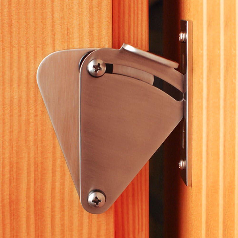 Cerradura de acero inoxidable rústica para puerta corredera de granero (arandelas y tornillos incluidos), color plateado: Amazon.es: Bricolaje y herramientas
