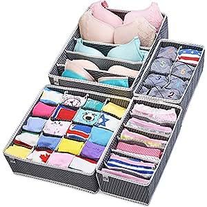 Organizadores de caj n plegable closet divisores y - Cajas almacenaje ropa ...