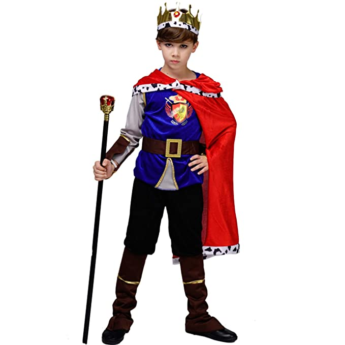 Amazon.com: Disfraz medieval para niños de Príncipe Rey ...