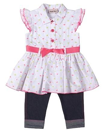 7dbdba3a2 Amazon.com  Little Lass Little Girls  Embroidered Heart Tunic Top ...