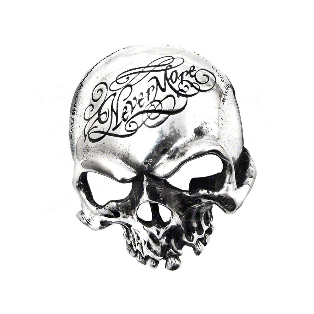 Alchemy Gothic Nevermore Skull Belt Buckle B93