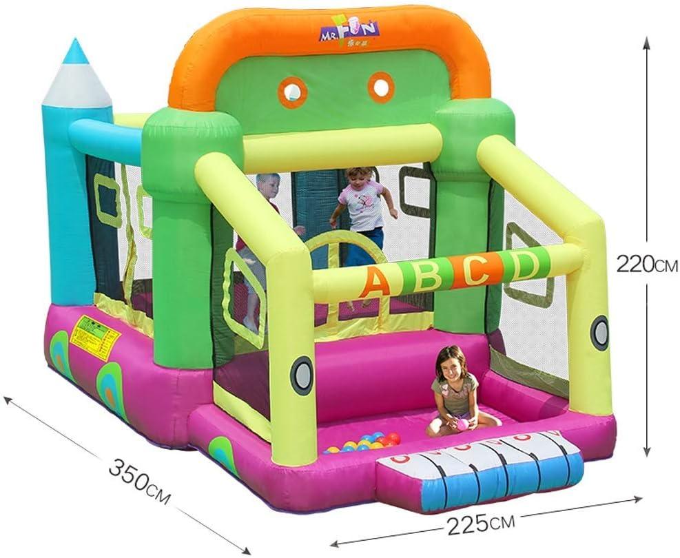 Daxiong Casa elástica niños inflables niños pequeños Castillo ...