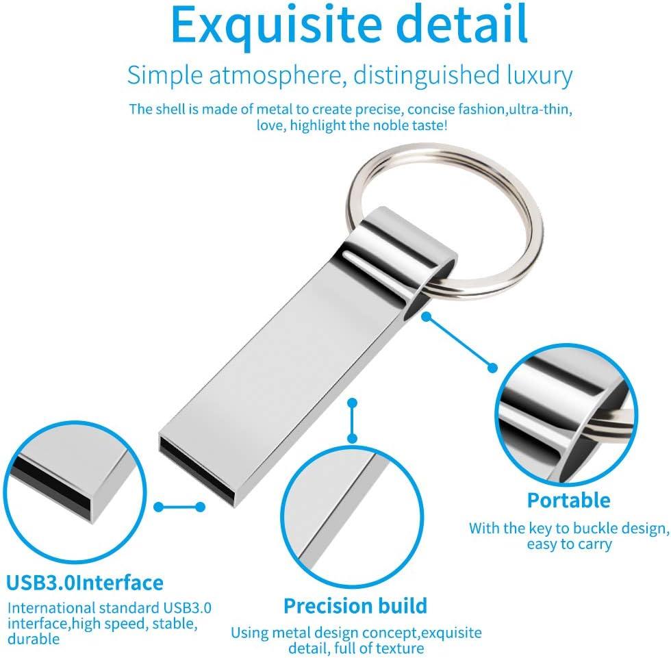 Metal Keychain USB Flash Drive Thumb Drive Memory Stick Zip Drive Keychain Design Pen Drive Fold Storage Jump Drive USB 2.0 128GB//USB3.0, Metallic Yonglin USB Flash Drive