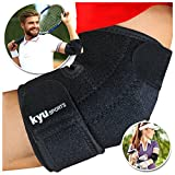 KYUSport Adjustable Neoprene Tennis Golfers Elbow Brace Wrap Arm Support Strap Band
