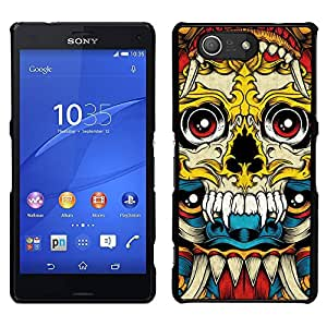 Be-Star Único Patrón Plástico Duro Fundas Cover Cubre Hard Case Cover Para Sony Xperia Z4v / Sony Xperia Z4 / E6508 ( Vampire Fang Acid Trip Yellow Skull )