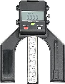 Digitale Höhenmessgerät 0-80mm LCD Meßschieber Tiefenmesser für Holzbearbeitung