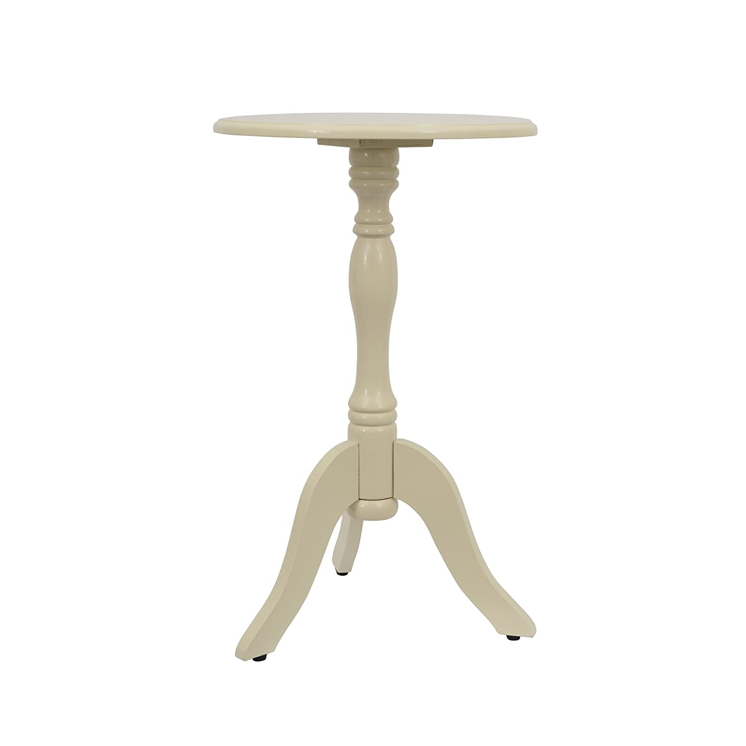 Décor Therapy FR1562 Simplify Pedestal Accent Table, Buttermilk