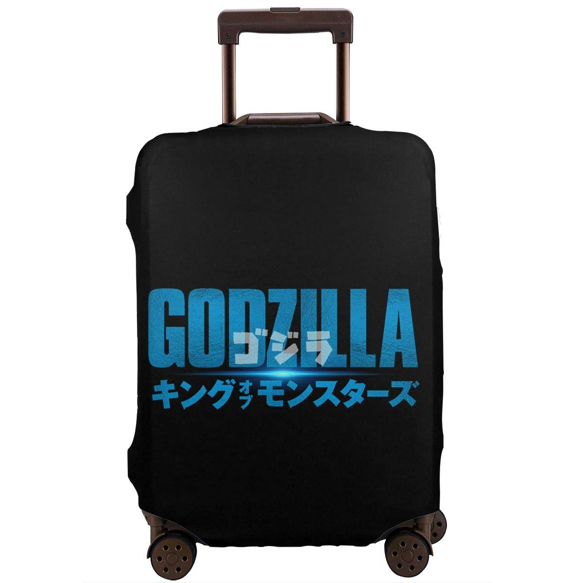Godzilla111 Elastic Travel Luggage Cover,Double Print Fashion Washable Suitcase Protective Cover Fit For 18-32 Inch Luggage