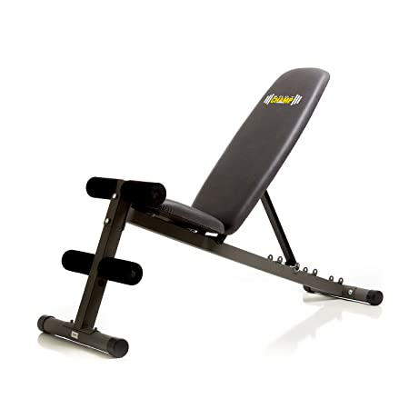 Body Champ 5 Position Adjustable Utility Weight Bench Flat Incline Decline FID Multi Function Strength Training