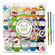 Amazon Lightning Deal 96% claimed: Premium Value Yarn Pack - 24 Acrylic Yarn Skeins - Assorted Colors - Perfect for Any Crochet and Knitting Mini Project - Resealable Bag - 6 FREE GIFTS with Each Pack