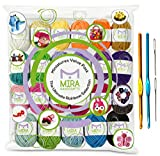 Kyпить Premium Value Yarn Pack - 24 Acrylic Yarn Skeins - Assorted Colors - Perfect for Any Crochet and Knitting Mini Project - Resealable Bag - 7 FREE GIFTS with Each Pack на Amazon.com