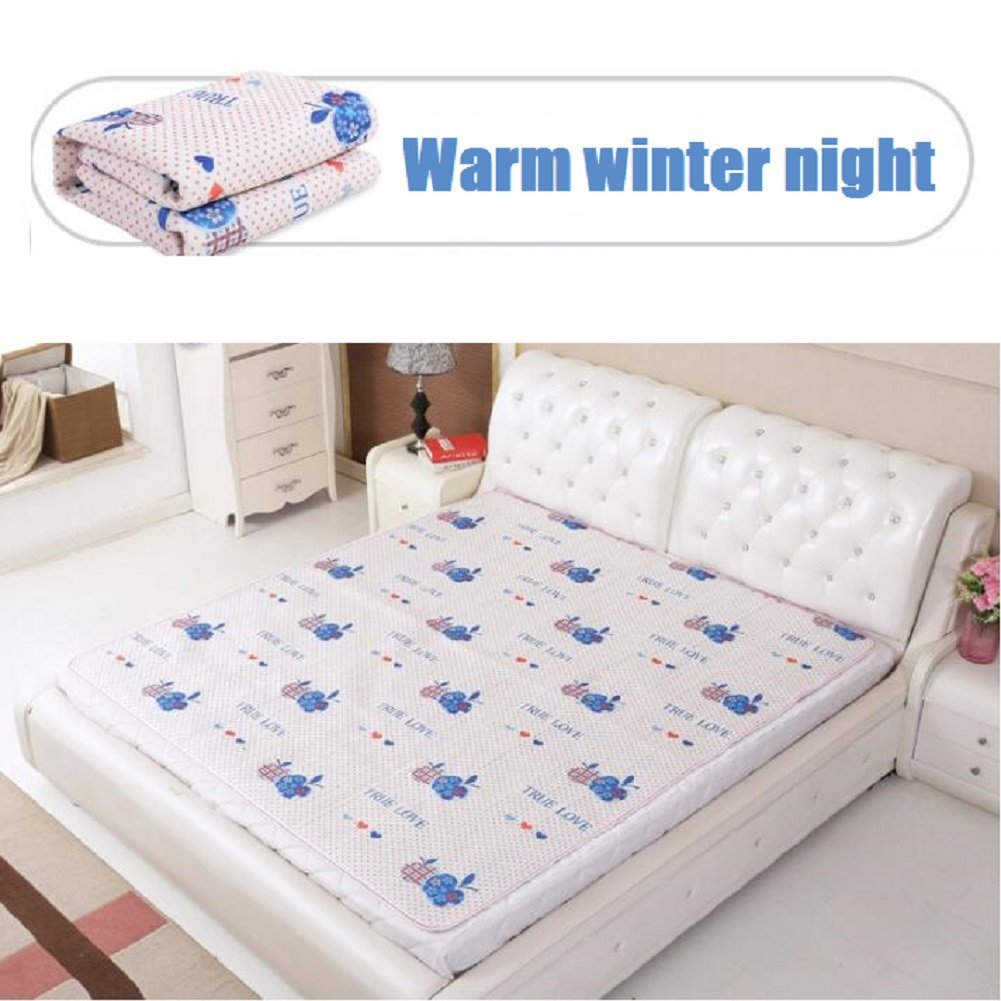 GX&XD Heated electric blanket,Electric throw Heated blanket Double control Household use safety waterproof Increasing Thicken-A 150x180cm(59x71inch)