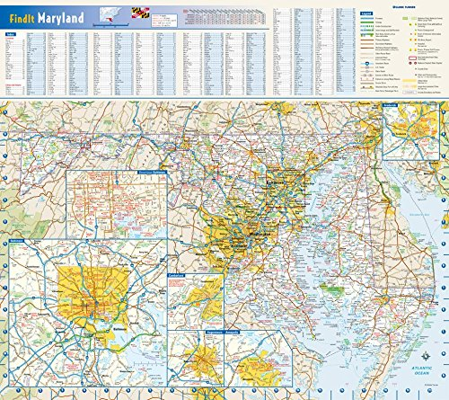 Maryland State Wall Map - 20.75